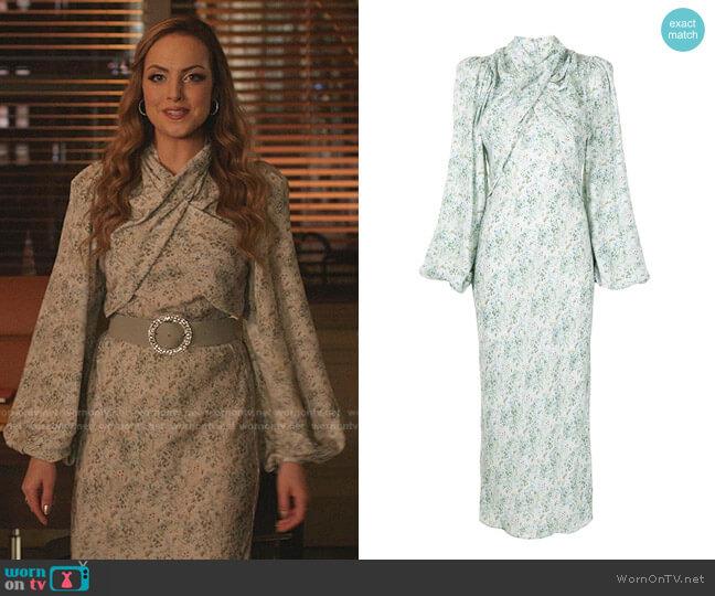Harriet Dress by Acler worn by Fallon Carrington (Elizabeth Gillies) on Dynasty