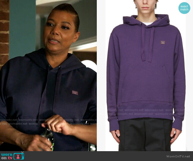 Acne Studios Purple Patch Hoodie worn by Robyn McCall (Queen Latifah) on The Equalizer
