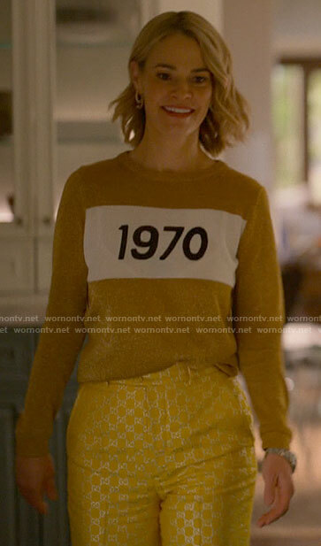 Alice's gold 1970 sweater on The L Word Generation Q