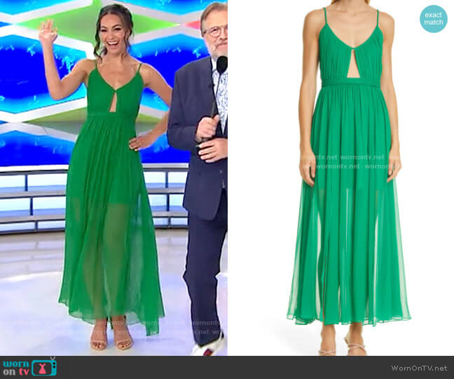 Alice + Olivia Tamar Dress worn by Alexis Gaube  on The Price is Right