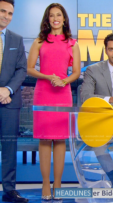 Alison's pink ruffled dress on The Morning Show