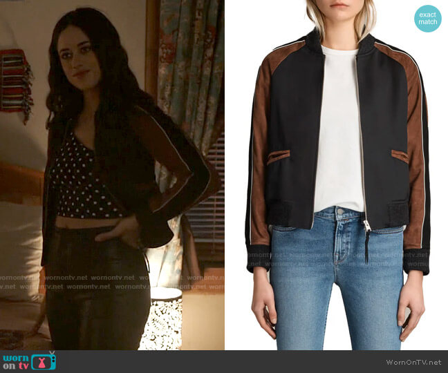 All Saints Atley Jacket worn by Liz Ortecho (Jeanine Mason) on Roswell New Mexico