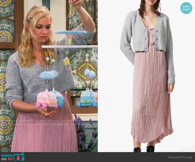 All Saints Kaylee Dress  worn by Gemma (Beth Behrs) on The Neighborhood