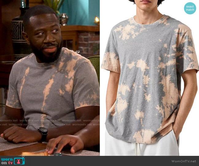 All Saints Phillips Tie Dye T-Shirt worn by Malcom (Sheaun McKinney) on The Neighborhood