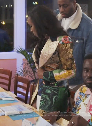 Askale Davis' patchwork blazer on The Real Housewives of Potomac