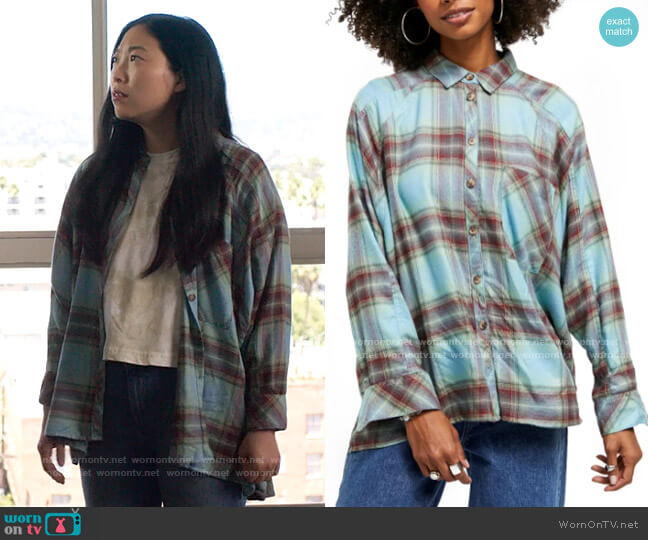 Urban Outfitters BDG Brendan Plaid Flannel Shirt worn by Nora Lum (Awkwafina) on Awkwafina is Nora From Queens