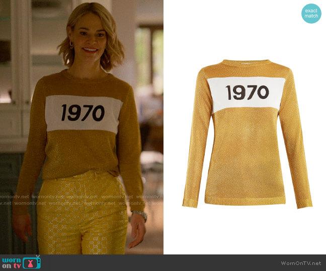 Bella Freud 1970-intarsia metallic sweater worn by Alice Pieszecki (Leisha Hailey) on The L Word Generation Q