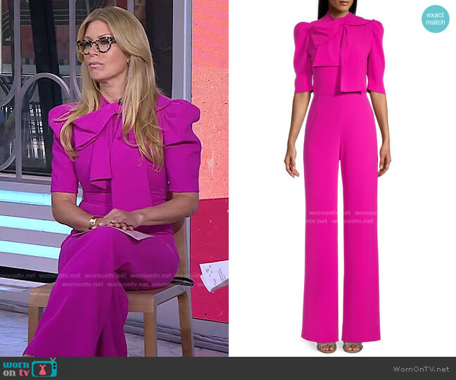 Ara Jumpsuit by Black Halo worn by Jill Martin  on Today