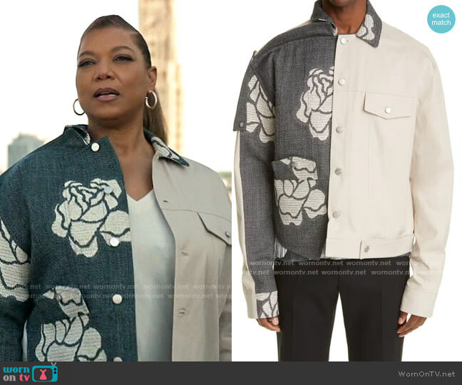Botter Floral Contrast Jacket worn by Robyn McCall (Queen Latifah) on The Equalizer