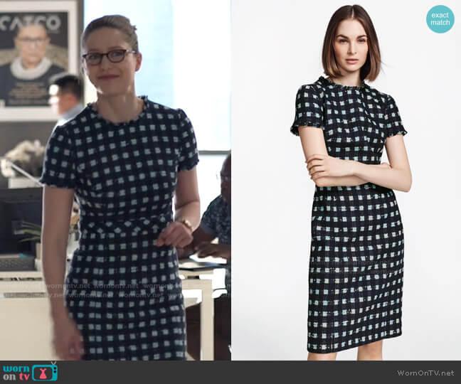 Brooks Brothers Checked Boucle Sheath Dress worn by Kara Danvers (Melissa Benoist) on Supergirl