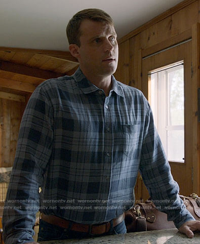 Casey's blue plaid shirt on Chicago Fire
