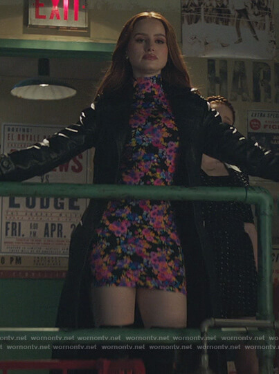 Cheryl's floral print mesh mini dress on Riverdale