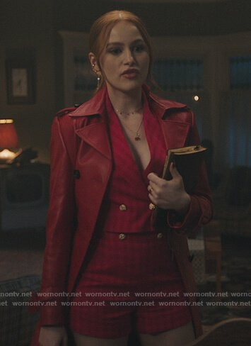 Veronica's pink double breasted blazer on Riverdale