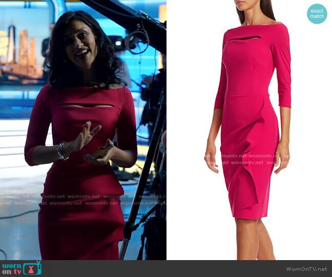 Chiara Boni La Petite Robe Kate Dress worn by Alison Namazi (Janina Gavankar) on The Morning Show