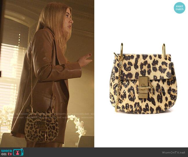 Drew Mini Shoulder Bag by Chloe worn by Amanda Carrington (Eliza Bennett) on Dynasty