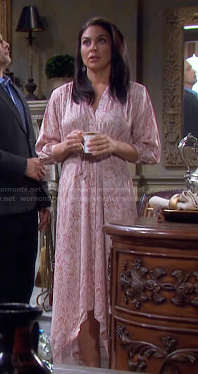 Chloe's pink snake print dress on Days of our Lives