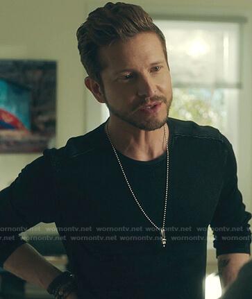 Conrad's black long sleeve shirt on The Resident