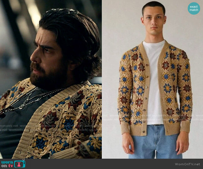 Corridor Hand Crochet Cardigan worn by Harry Keshegian (Adam Goldberg) on The Equalizer