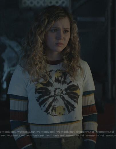 Courtney's stripe ribbed sweater on Stargirl