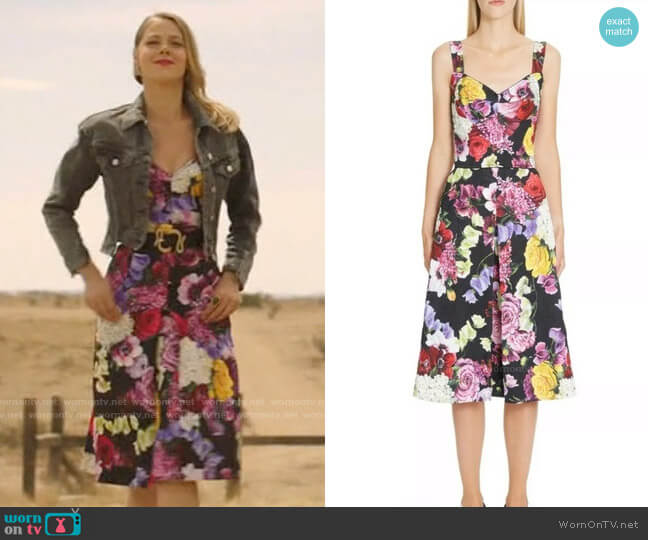 Dolce & Gabbana Floral Midi Dress worn by Isobel Evans-Bracken (Lily Cowles) on Roswell New Mexico
