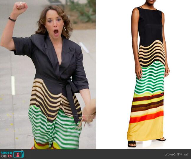 Dries van Noten SS20 Dress worn by Bette Porter (Jennifer Beals) on The L Word Generation Q
