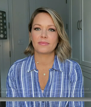 Dylan's blue striped maternity shirt on Today