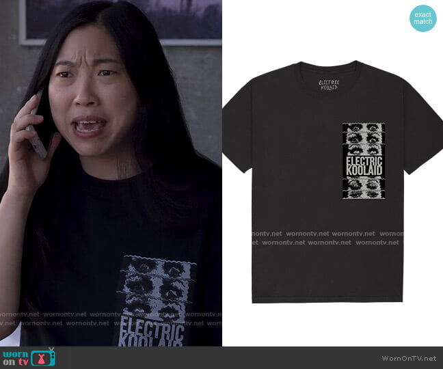 Electric Koolaid Fried T-shirt worn by Nora Lum (Awkwafina) on Awkwafina is Nora From Queens
