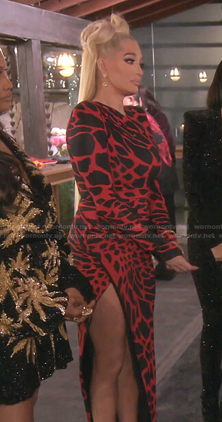 Dorit's red dress on The Real Housewives of Beverly Hills