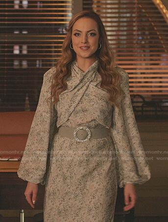 Eva's gingham check dress on Dynasty