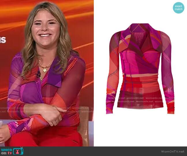 Camicia Tartan Shirt by Fuzzi worn by Jenna Bush Hager  on Today