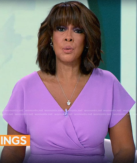Gayle King's lilac dress on CBS Mornings