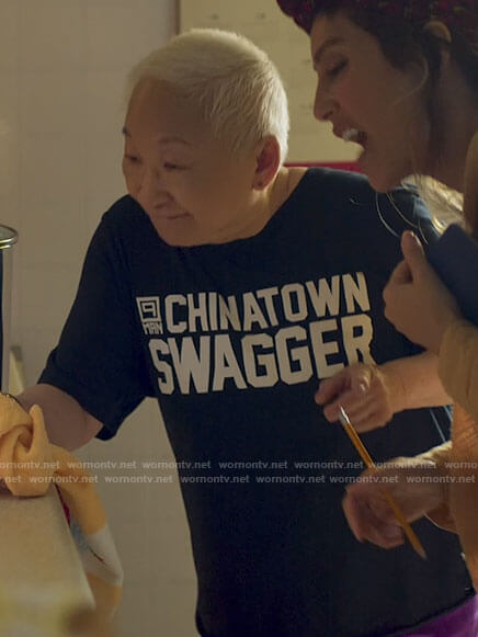 Grandma's Chinatown Swagger t-shirt on Awkwafina is Nora From Queens