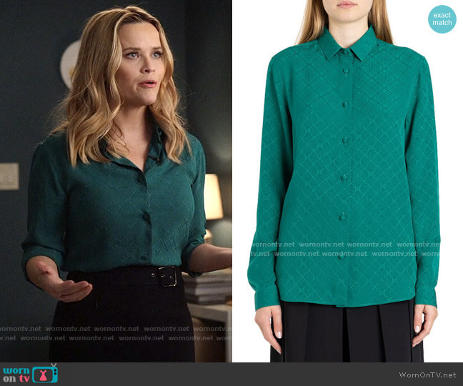 Gucci GG Jacquard Shirt worn by Bradley Jackson (Reese Witherspoon) on The Morning Show