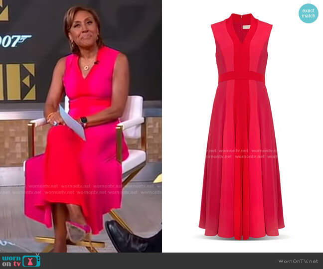 Jilly Midi Dress by Hobbs London worn by Robin Roberts  on Good Morning America