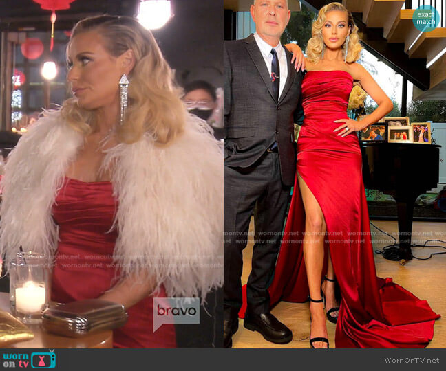 Hollywood Red Dress by Dorit x Nektaria worn by Dorit Kemsley  on The Real Housewives of Beverly Hills
