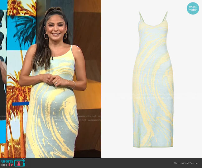 Cypress Hockney Knitted Dress by House of Sunny worn by Erin Lim  on E! News