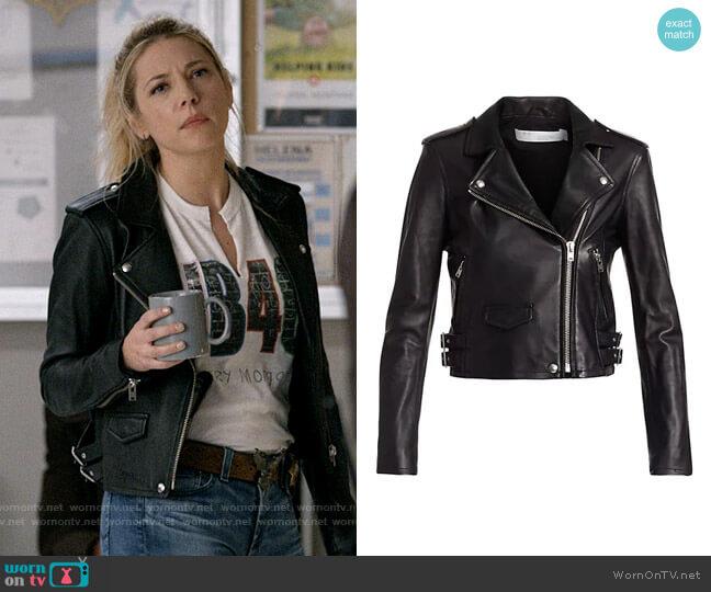 IRO Ashville Leather Jacket worn by Jenny Hoyt (Katheryn Winnick) on Big Sky