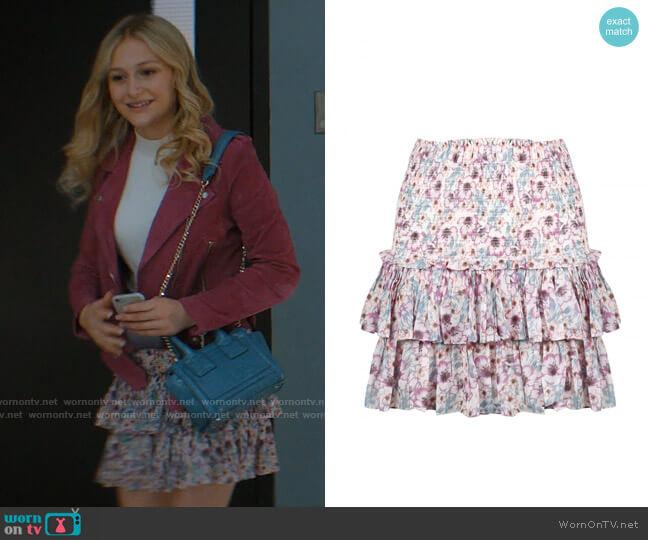 Etoile Isabel Marant Naomi Smocked Ruffle Skirt worn by Lexy Cross (Alyvia Alyn  Lind) on Chucky