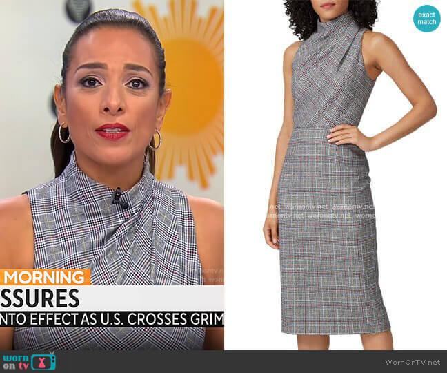 Jay Godfrey Newton Sheath Dress worn by Michelle Miller  on CBS Mornings