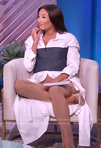 Jeannie's long white button down shirt on The Real
