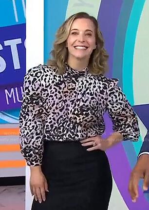 Jenn Falik's leopard print blouse on Today