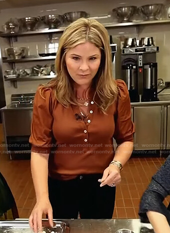 Jenna's brown button down top on Today