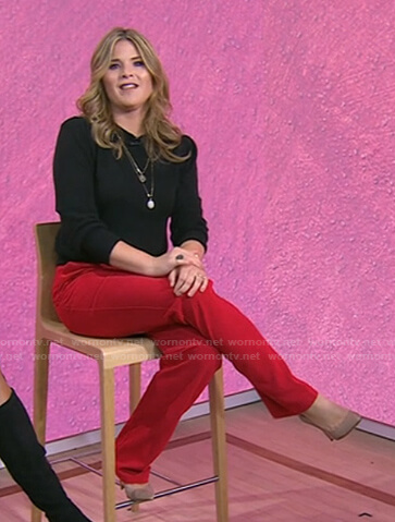 Jenna's red pants on Today