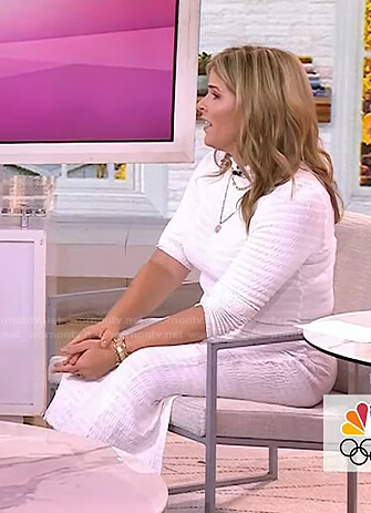 Jenna's white ruched dress on Today