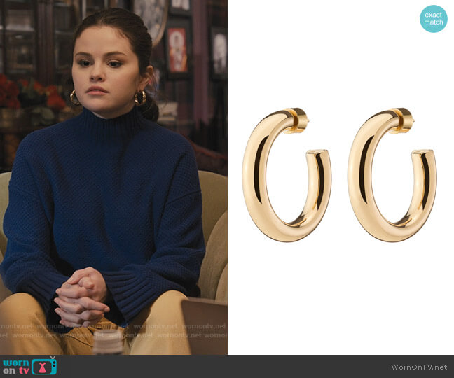 Mini Samira Hoops by Jennifer Fisher worn by Mabel Mora (Selena Gomez) on Only Murders in the Building