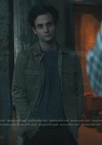 Joe's green cargo jacket on You