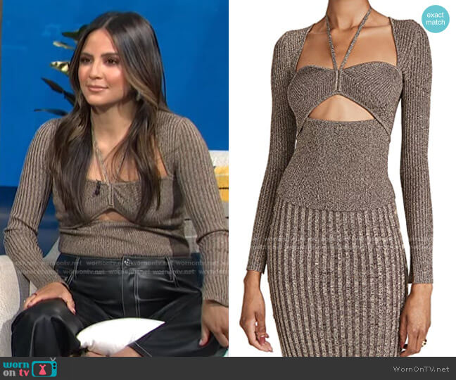 Alexia Sweetheart Pullover by Jonathan Simkhai worn by Erin Lim  on E! News
