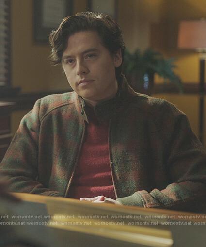 Jugheads green plaid jacket on Riverdale