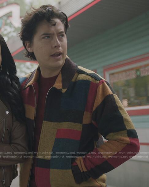 Jugheads multicolored jacket on Riverdale