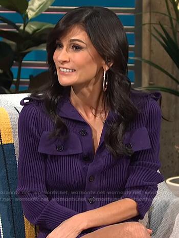 Julia Haart's purple ribbed dress on E! News Daily Pop